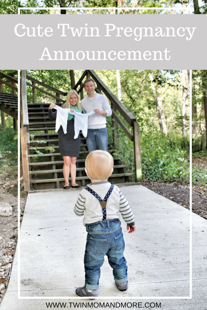Cute twin pregnancy announcement. #twinpregnancy #twinpregnancyannouncement #twins