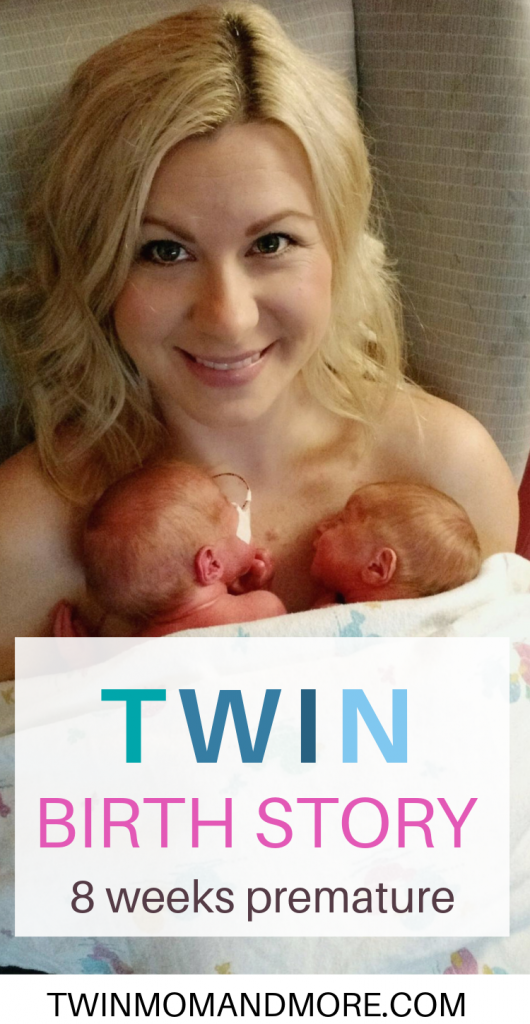 Pinterest Image for a twin birth story