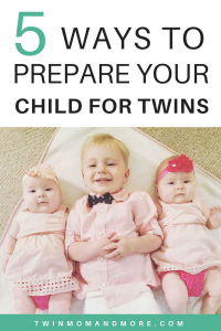 Expecting twins and worried about how it will affect your child? Read these tips to help prepare them. #preparingfortwins #expectingtwins #twinsplusone #twinpregnancy #oldersibling #newbaby