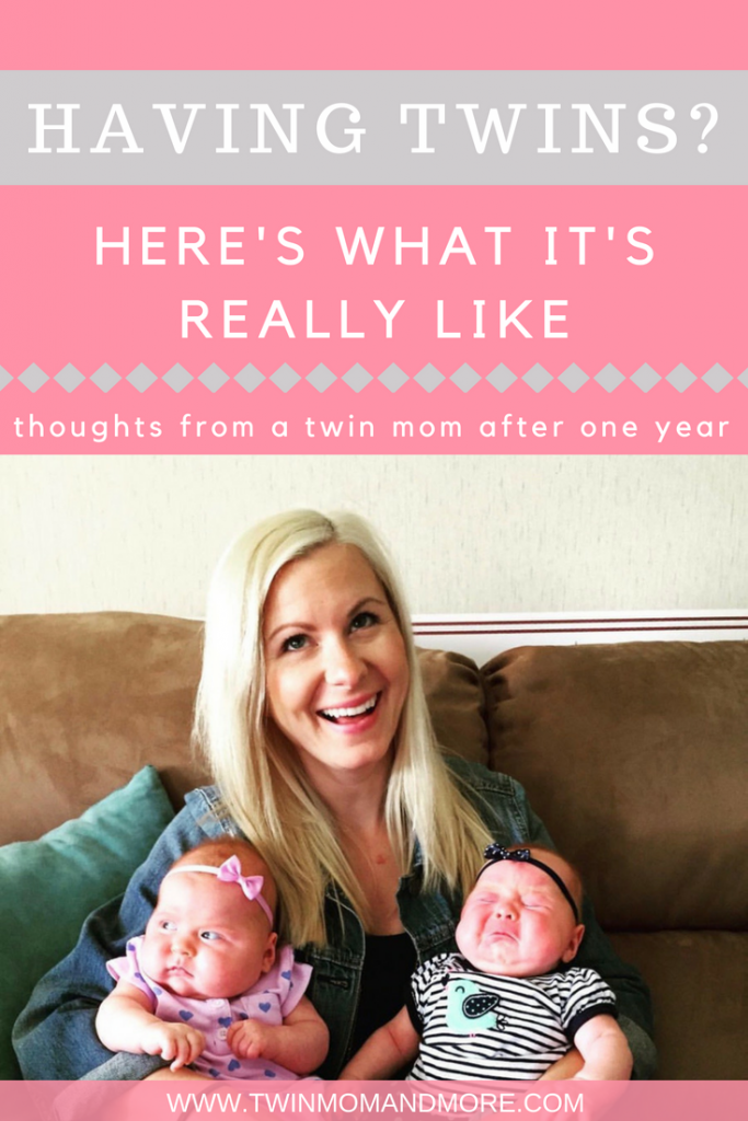 Expecting twins? One twin mom gives her experience of life with twins after one year. #twinmom #expectingtwins #momofmultiples #twins #lifewithtwins #tipsfortwinparents