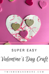 Easy Valentine's Day Craft for Toddlers: A super fun, easy, mess free Valentine's Day Craft for toddlers! #valentinesday #valentinesdaycraft #craftsfortoddlers #craftsforkids #valentinesdayfun