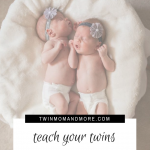 Haivng newborn twins is certainly a challenge but it is definitely possible to teach them to sleep through the night! #twins #twinmom #expectingtwins #twinpregnancy #babysleeptips #momofmultiples #multiplepregnancy #advicefortwinparents #twintips #twinsleepadvice #newborntwins