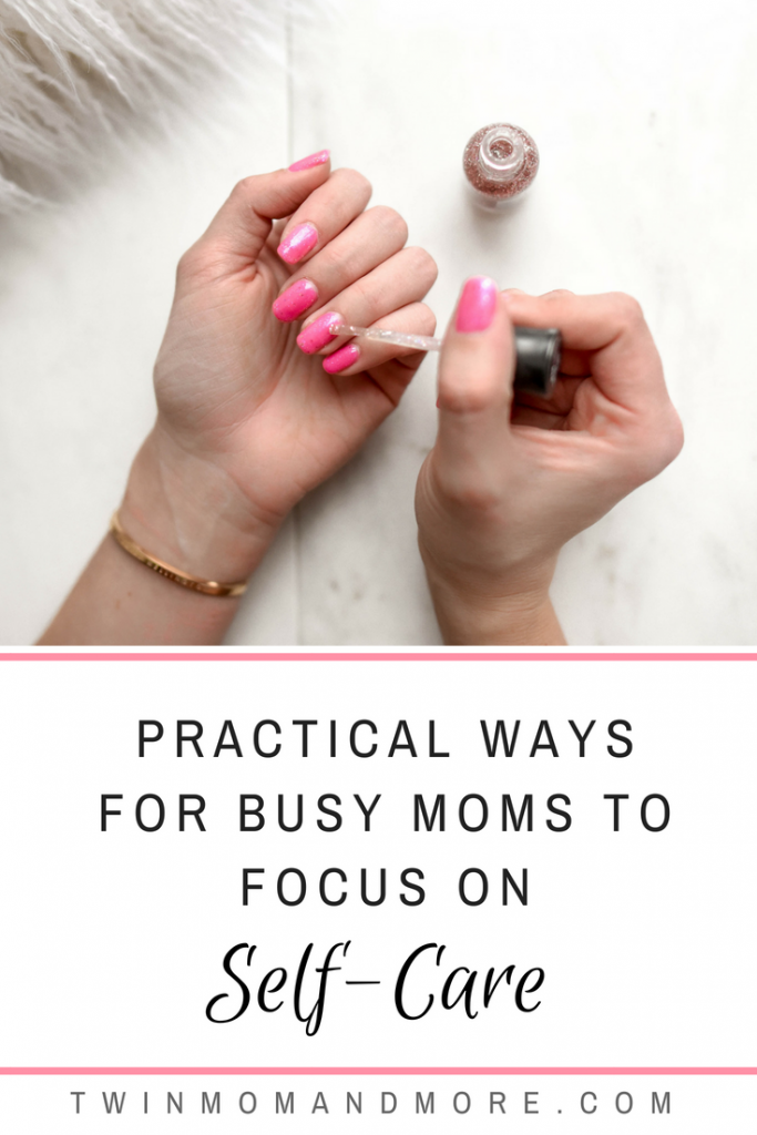 Motherhood is a tough job, and it's hard yet essential to find time for self-care. Here are some practical ways for busy moms to establish some self-care activities! #motherhood #momlife #selfcare #selfcareideas #selfcaretips #selfcareroutine #selfcareformoms