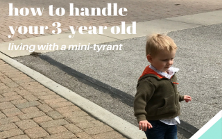 How To Handle Your Three-Year-Old…Living With a Mini Tyrant