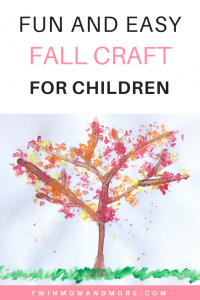 Fun and Easy Fall Craft for Children: #fall #fallcraft #fallcraftforchildren #fallcraftforkids #fallcraftfortoddlers #autumn #autumncraft #craftsfortoddlers #easyfallcraft