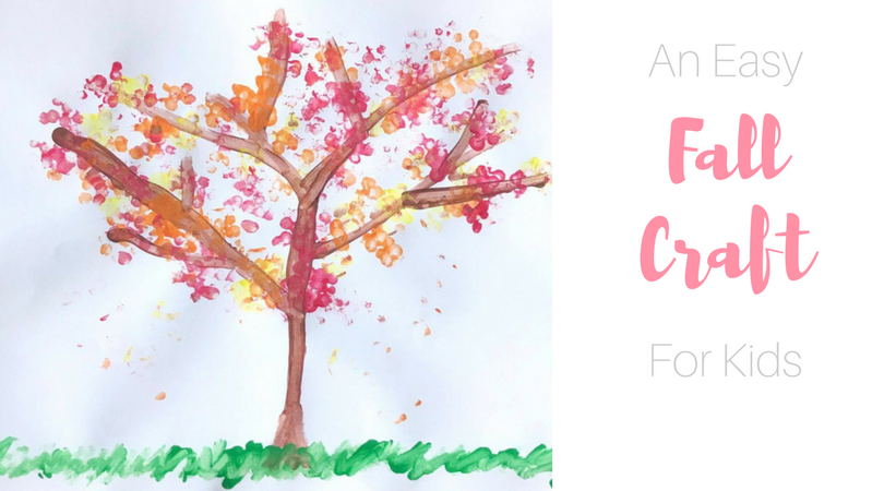 Easy Fall Craft that's perfect for toddlers and preschoolers. Minimal prep and supplies makes this the perfect craft for busy moms! #fallcraft #craftsforkids #craftsfortoddlers #craftsforchildren #craftsforpreschoolers #painting #artwork #artwithkids