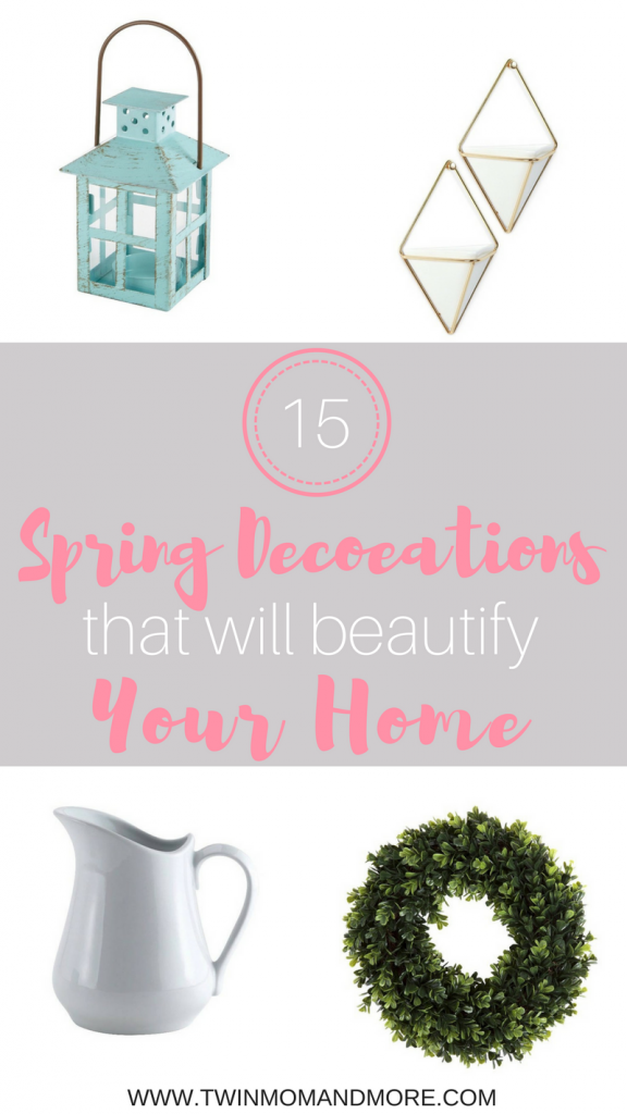 Looking for affordable, spring decorations? I've got you covered with a roundup of my favorite, affordable options. Spring is one of my favorite times of the year and spring decorations are by far my favorite way to spruce up my home. #spring #springdecorations #springdecor #homedecor #affordabledecor