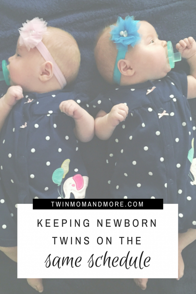 Bringing home newborn twins is extremely challenging. Keeping them on the same schedule is an even bigger challenge, but well worth the efforts! Here are great tips from a twin mom on how to keep your newborn twins on the same schedule. #twins #newborntwins #twinmom #expectingtwins #advicefortwinparents #tipsfortwins #twinlife #lifewithtwins #scheduleadvice #babywise