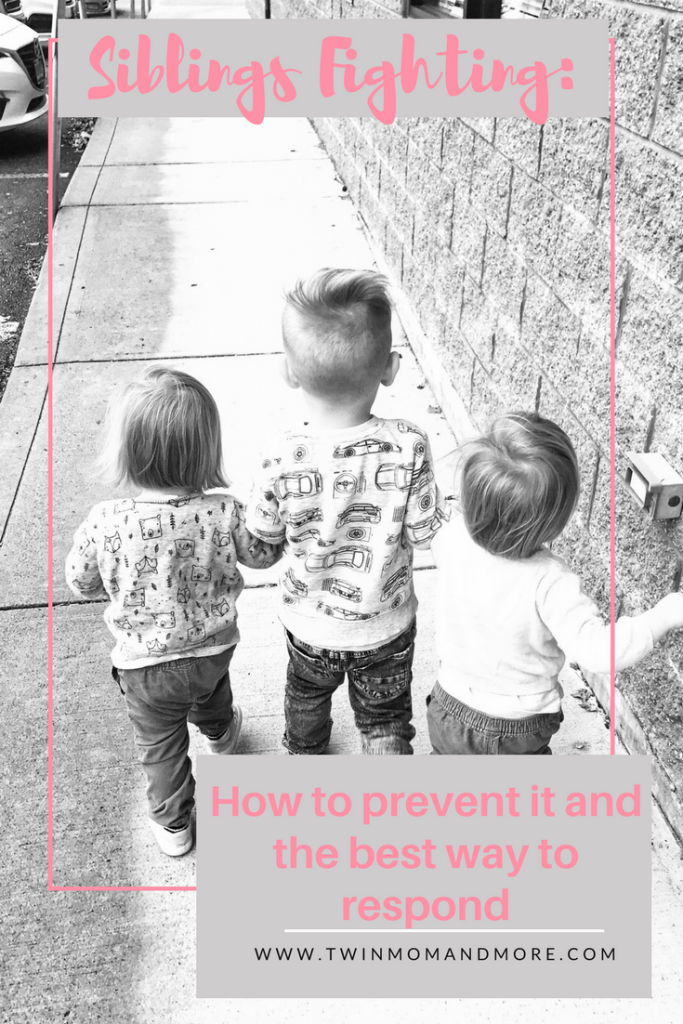 It's inevitable that siblings are going to fight, but these tips will help minimize siblings fighting and give you the best way to respond. #parenting #siblings #parentingtips