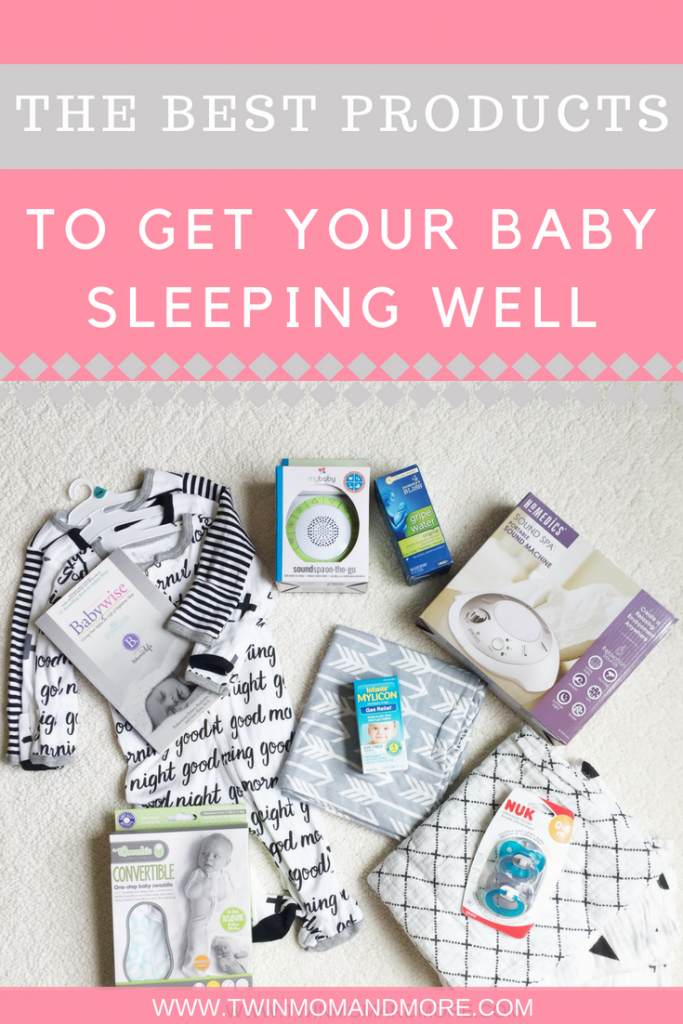 The best products to get your baby sleeping well. Your baby will be sleeping through the night in no time with these must-have baby sleep products! #newborn #baby #babysleep #babyproducts #sleepproducts #sleepthroughthenight #swaddle #soundmachine #sleephelp