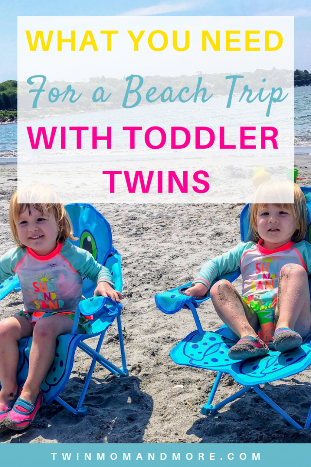 What You Need for a Beach Trip With Toddler Twins: What you need to have a safe and fun beach trip with toddler twins. It's challenging, but totally doable!