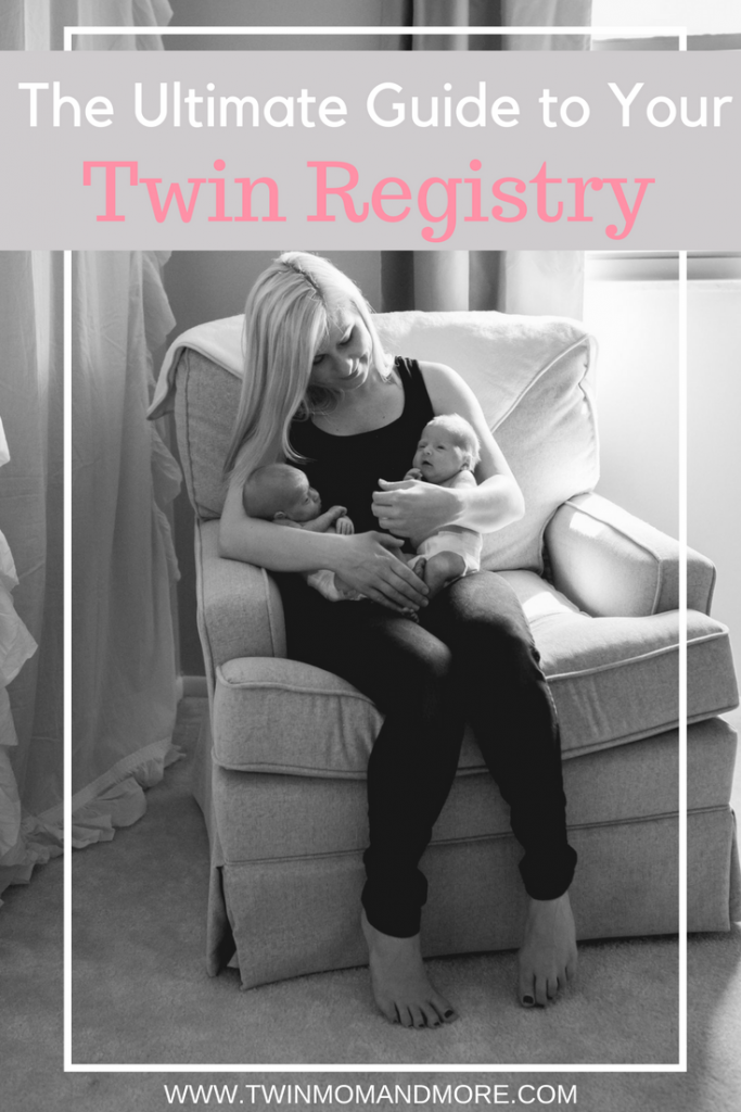 Here are the must-have items for your twin registry. I've rounded up everything you need to know, including items you can skip and what you need two of. Get started on your twin registry today! #twinregistry #expectingtwins #twinregistrymusthaves #twinpregnancy