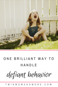Correct defiant behavior with this one brilliant method. #parenting #discipline #positiveparenting #toddlers #tantrums