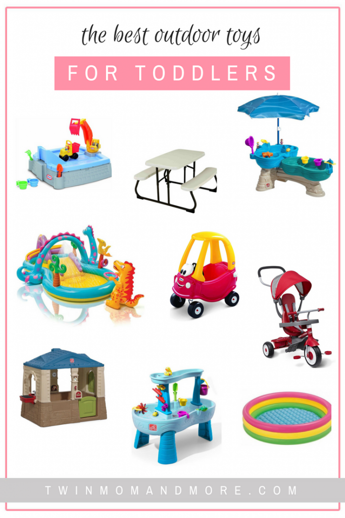 Have the best summer ever with a roundup of the best outdoor toys for toddlers! #kids #summer #summeractivities #kidsactivities #toddler #toddlerlife #outdoortoys #waterplay #sandbox #watertable #toddleractivities #outdoortoysfortoddlers