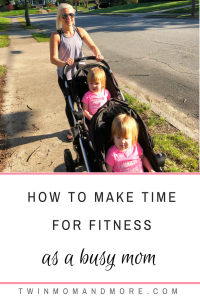 How To Make TIme For Fitness as a Busy Mom: It can seem impossible to make your fitness a priority as a busy mom; with these tips, it can be easy to get it! #motherhood #fitness #health #fitmom #healthandfitness #exercise #exerciseformoms #motherhood