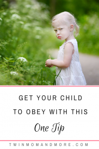 Get your child to obey with this one easy tip! #parenting #childhood #toddlers #tantrum #behavior #obedience #discipline