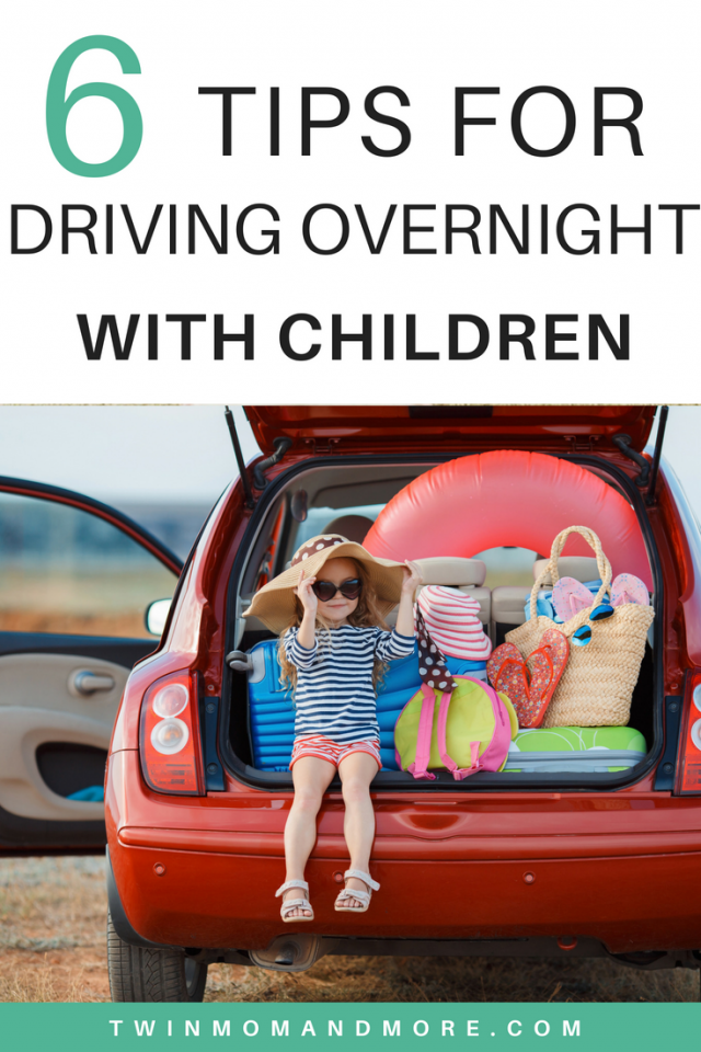 Driving overnight with kids is challenging, but definitely doable! Here are 6 tips from a mom who's done it many times. #travelwithkids #travelwithchildren #traveltips #travelhacks #drivingovernight #roadtripwithkids #familyvacation #traveling #traveladvice #drivingovernightwithkids