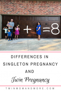 A twin pregnancy is more than just a bigger belly and shorter pregnancy! Here are 6 ways a twin pregnancy differs from a singleton pregnancy. #expectingtwins #twinpregnancy #twins #twinmom #tipsfortwinparents #twinsontheway #bump #multiplepregnancy #twinsandmultiples