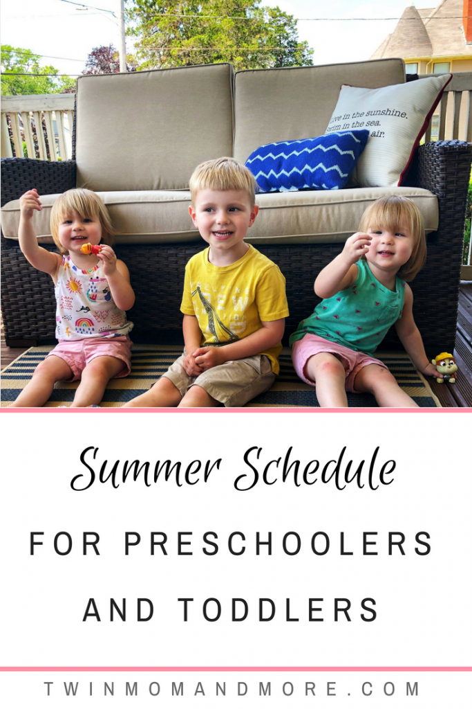 The endless days of summer can be exhausting for moms of small children! A summer schedule is essential for keeping things running smoothly. #summerschedule #summer #schedulefortoddlers #scheduleforpreschoolers #summerscheduleforkids #summeractivities