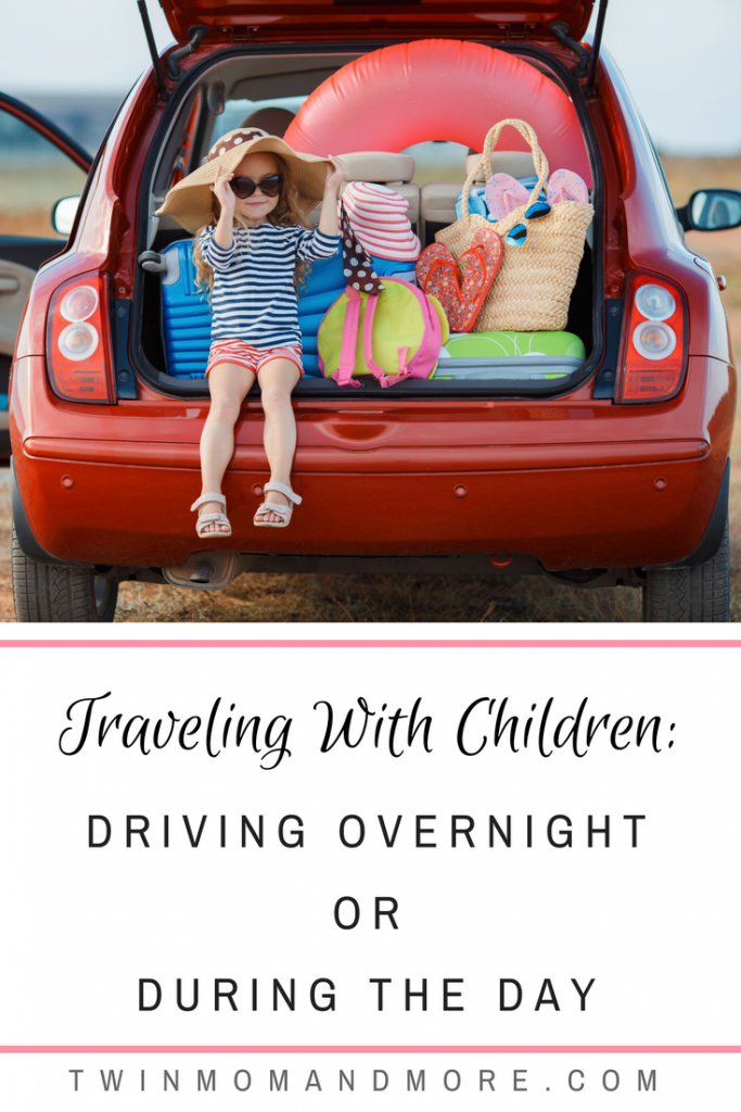Traveling with children is challenging and it can be hard to decide to drive overnight or during the day. Read the pros and cons of each from a mom who's done both! #travel #travelwithkids #travelwithchildren #roadtrip #roadtripwithkids #familyvacation #traveltips