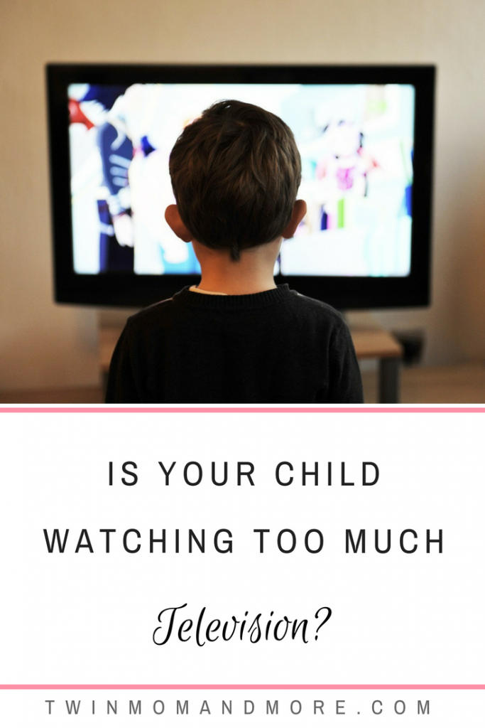 T.V. and screen time can be beneficial and educational for children in moderation. However, too much can cause problems. Here's how to tell if your child is watching too much T.V. #parenting #childhood #children #screentime #television #motherhood