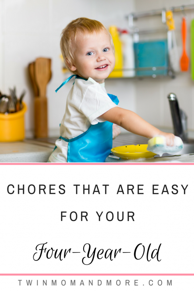 Parenting hack: Teach your children to do chores at a young age! Here is a list of chores that are easy for your four-year-old! #chorechart #printablechorechart #parenting #kidlife #momlife