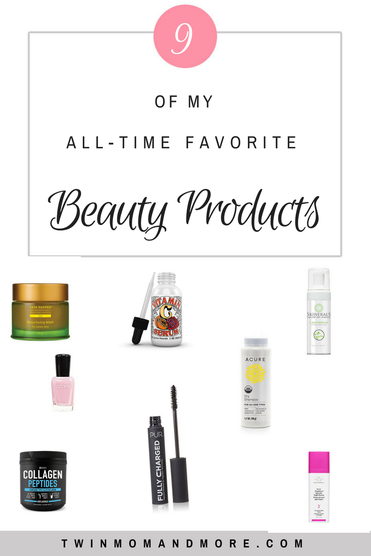 My all-time favorite beauty products! #beauty #beautyproducts #skin #skincare #dryshampoo #facemask #affordableskincare #beautyfavorites #summerskincare