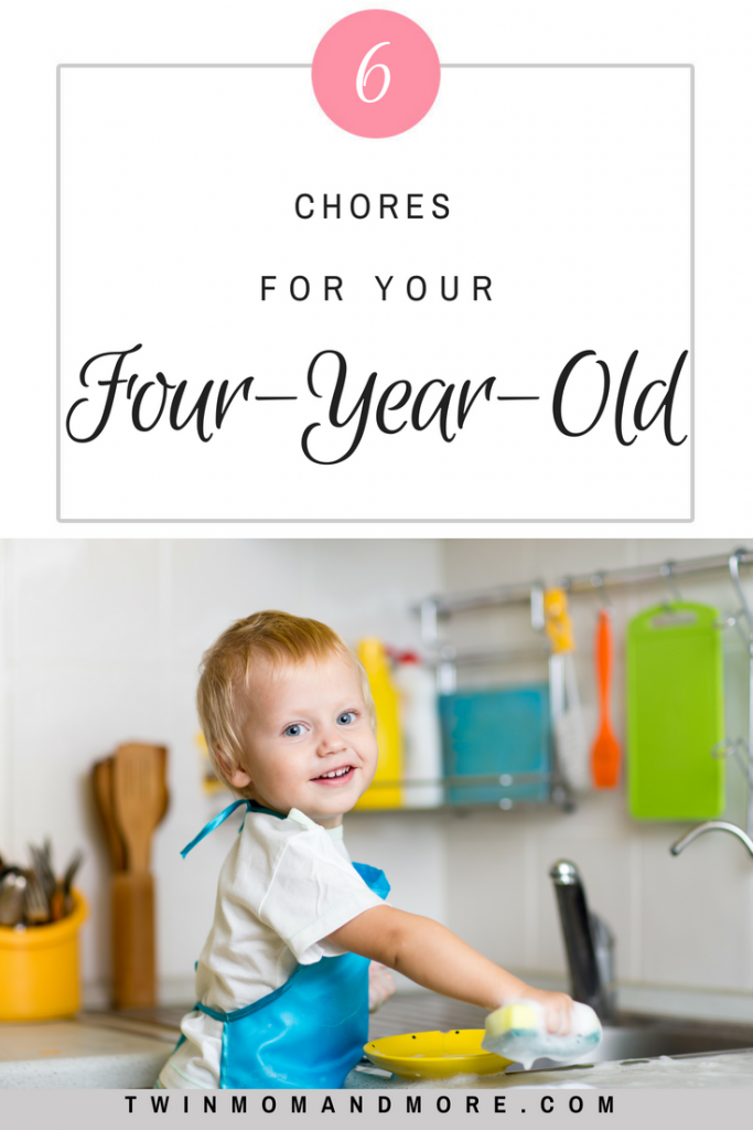 Children are capable of so much! Here are 6 chores that your four-year-old can do! #parenting #children #chores #choresforchildren #preschooler #momlife