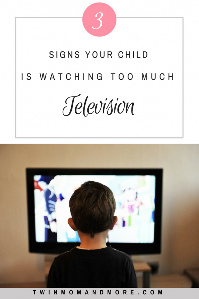 Television can have it's advantages but too much can be negative. Here are signs that your child is watching too much T.V. #screentime #T.V. #television #parenting #children #parentinghacks #parentingtips #familyrules