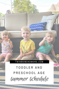 A great example of a summer schedule for toddler and preschool aged children. #summer #summerschedule #activitiesforkids #activitiesfortoddlers #summerscheduleforkids #summerschedulefortoddlers #summerscheduleforchildren