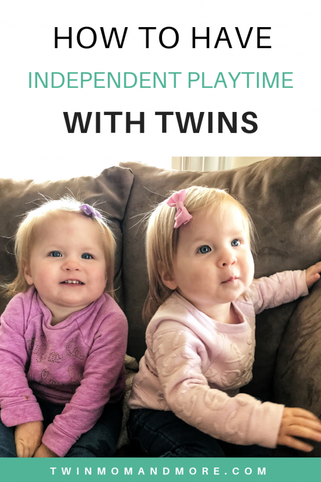 How To Have Independent Playtime With Twins... and why you should be doing it! #twins #tipsfortwins #twinmomlife #twinmom #toddlertwins #lifewithtwins