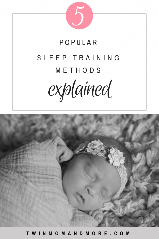 5 Popular Sleep Training Methods Explained: sleep training does not have to entail cry it out. Learn about the different methods of sleep training that are out there. #sleeptrainingmethods #sleeptraining #sleeptrainingbaby #sleeptrainingnewborn #sleeptrainingoverview #babysleeptips #babywise #gentlesleeptraining