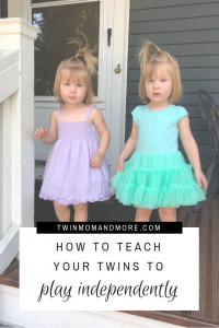 How To Teach Your Twins To Play Independently: #twins #independentplaytimewithtwins #tipsfortwins #lifewithtwins #twinmomlife
