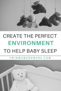 Create the perfect sleep environment to help your baby sleep better. #babysleeptips #babynursery #babysleephelp #babysleep #sleepenvironment