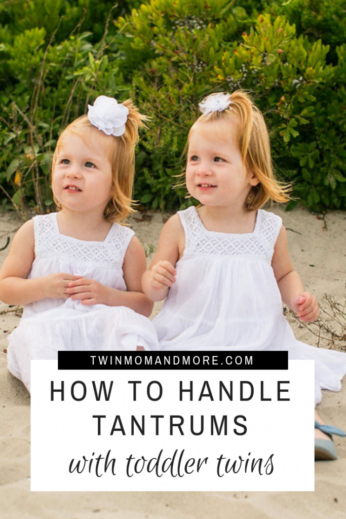 What to do When Your Toddler Twins Have Tantrums at the Same Time. Tips to get you through the toddler years with twins. #twins #twintoddlers #toddlertwins #twoyearold #toddlers #raisingtwins #parentingtwins #twinmomlife