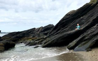 Our Beach Day at Beavertail State Park