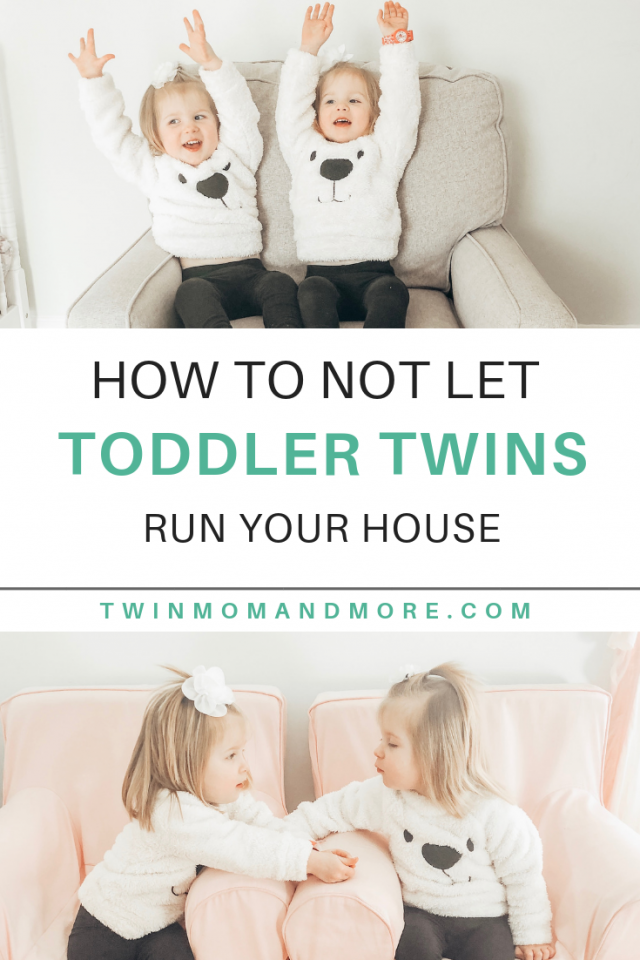 Parenting Toddler Twins: How to Not Let Them Run Your House. Parenting toddler twins is double the joy but double the challenges. Here are tips for handling toddler twins. #parenting #toddlertwins #lifewithtwins #raisingtwins