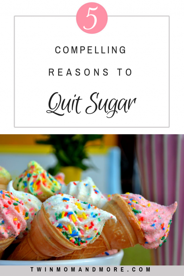 5 Compelling Reasons to Quit Sugar: a sugar detox has many benefits. Quit sugar today and start feeling better! #sugardetox #sugarcleanse #howtoquitsugar #sugardetoxbenefits