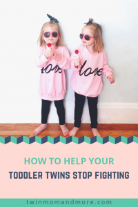 How to Help Your Toddler Twins Stop Fighting. Practical tips to get your twins to stop fighting and get along!