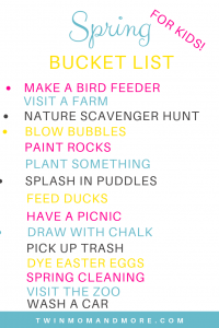 Printable Spring Bucket List for the Whole Family! :#springbreak #springbucketlist #bucketlist #printable #springactivities