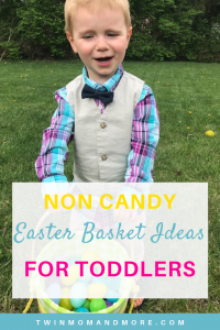 Pinterest image for spring and easter books for easter baskets for toddlers