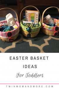 Pinterest image about easter basket ideas for toddlers