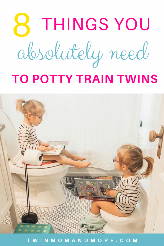 Pinterest image about potty training twins