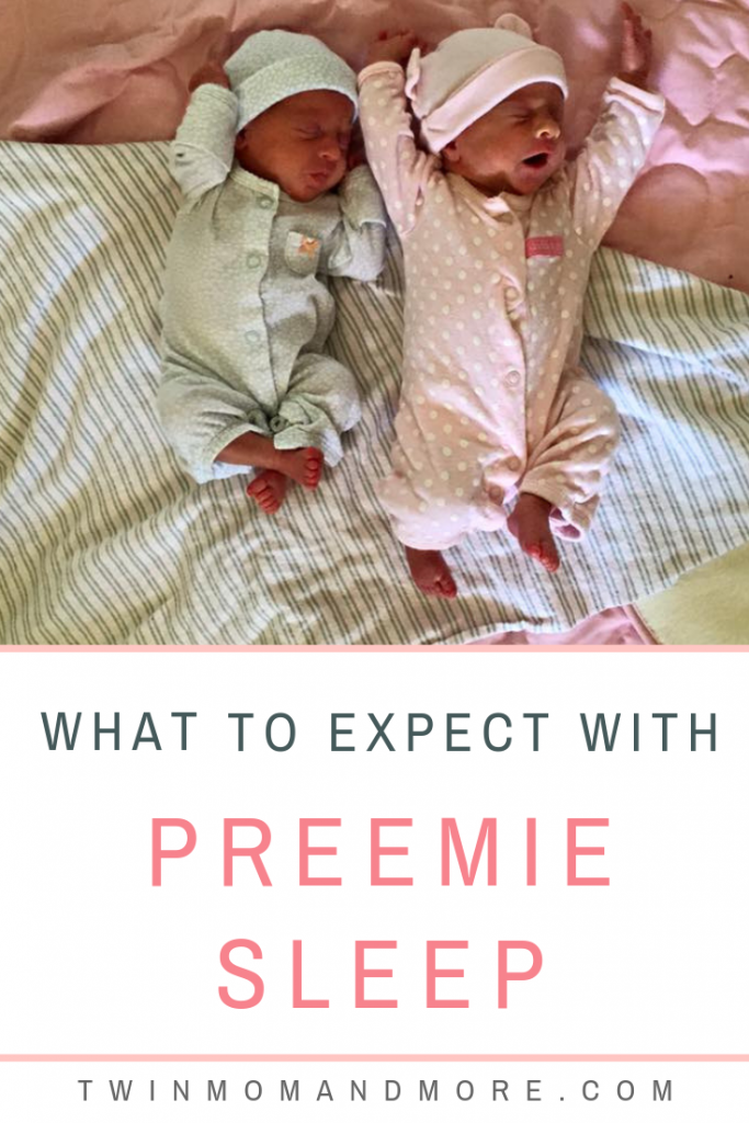 Pinterest image of preemie babies sleeping.