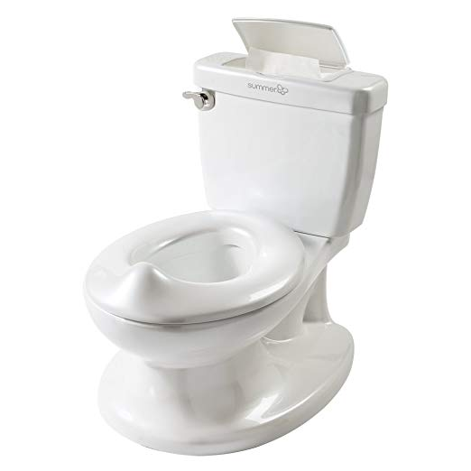 The best potty chair for potty training multiples: a potty chair that looks like a real toilet!