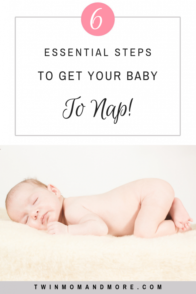 PInterest image of baby sleeping for babywise nap.