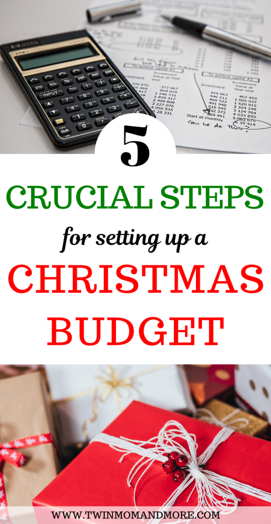 Pinterest image for setting up a Christmas Budget.