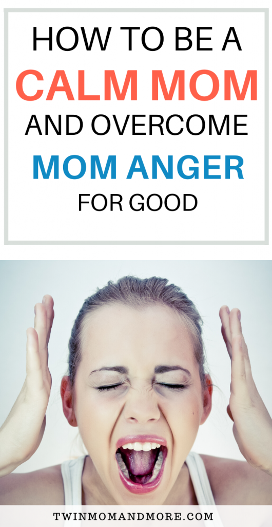 Pinterest image about overcoming mom anger.