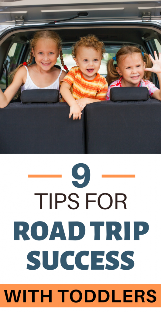 Pinterest image for road trip success with toddlers.