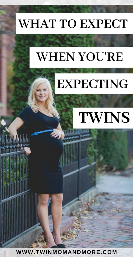 Pinterest image for what to expect during a twin pregnancy